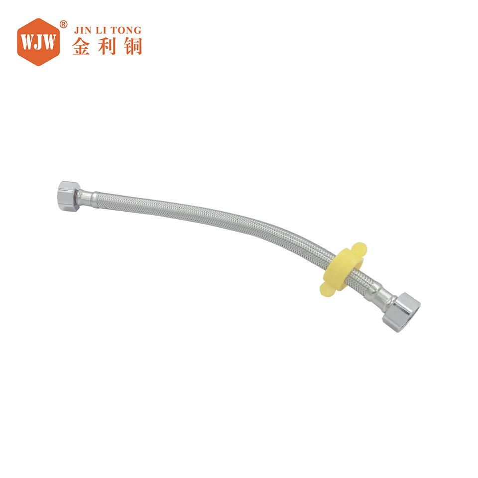 4分304不锈钢编织软管带扳手/1米/不锈钢/三元乙丙橡胶/投保产品/金利铜