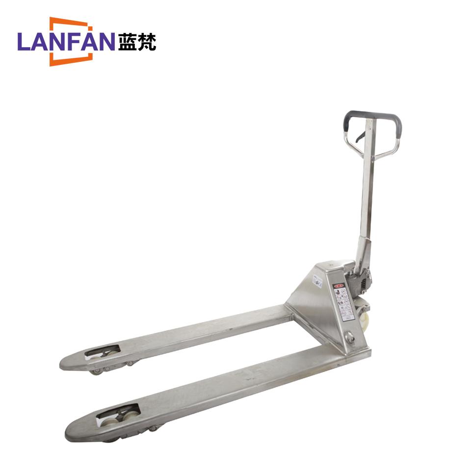 不锈钢手动搬运车AC 3T550*1100(尼龙轮) [华中区域]/蓝梵